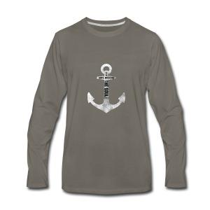 Anchor Hebrew 6:19 - Men's Premium Long Sleeve T-Shirt