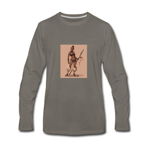 Female Warrior - Men's Premium Long Sleeve T-Shirt