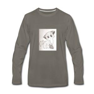 Adorable Drawing Of Anime Fox - Men's Premium Long Sleeve T-Shirt