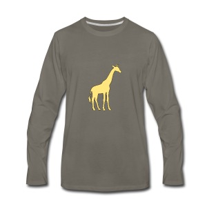 yellow giraffe - Men's Premium Long Sleeve T-Shirt