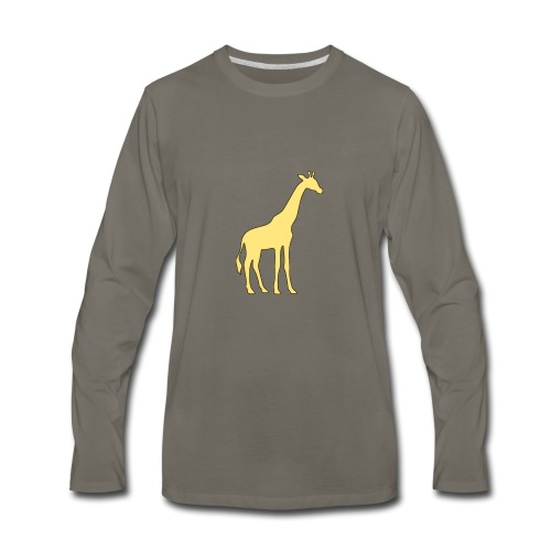 yellow giraffe - Men's Premium Long Sleeve T-Shirt