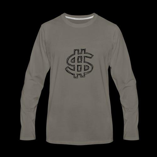 dollar sign drawing 4 - Men's Premium Long Sleeve T-Shirt