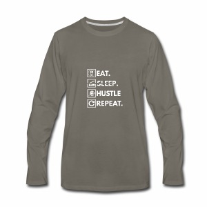 Eat sleep hustle repeat - Men's Premium Long Sleeve T-Shirt