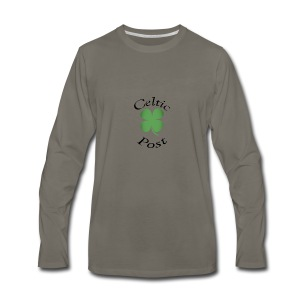 Celtic Post Shamrock - Men's Premium Long Sleeve T-Shirt