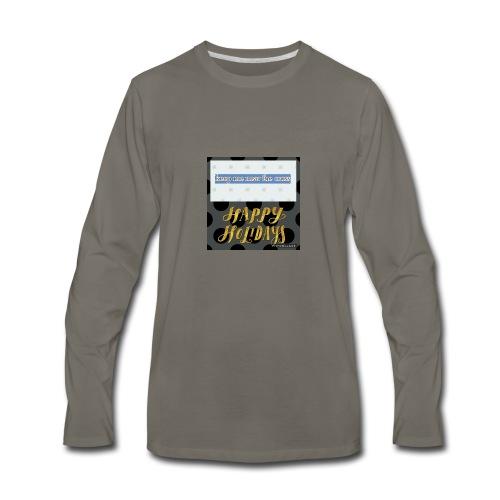 keel me near the cross poster - Men's Premium Long Sleeve T-Shirt