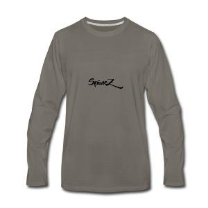 SpineZ_Black - Men's Premium Long Sleeve T-Shirt