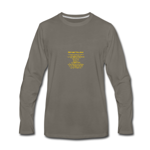 tshirt_pilotVersion_nologo_gold - Men's Premium Long Sleeve T-Shirt