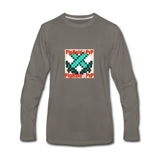 PigRaid Custom Logo - Men's Premium Long Sleeve T-Shirt
