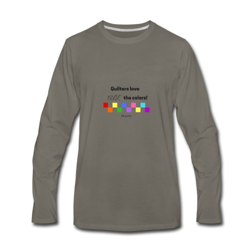Love Color - Men's Premium Long Sleeve T-Shirt