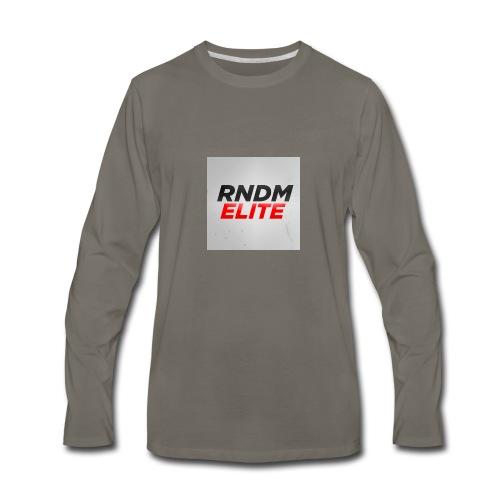 RNDM ELITE logo - Men's Premium Long Sleeve T-Shirt