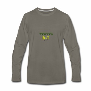 New Trojan Bat Logo - Men's Premium Long Sleeve T-Shirt