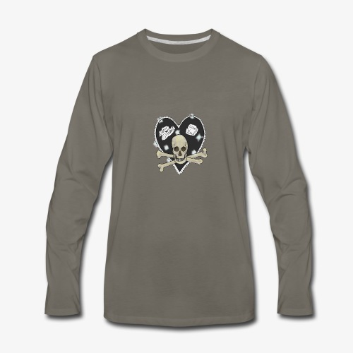 Pirate heart - Men's Premium Long Sleeve T-Shirt