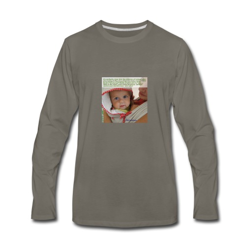Liedlof - Pura Bebo Baby wearing - Octopus - Men's Premium Long Sleeve T-Shirt