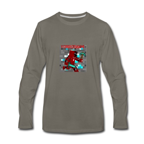 Yobro5604 icon for youtube channel - Men's Premium Long Sleeve T-Shirt