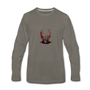 Real Scary Blood Skull - Men's Premium Long Sleeve T-Shirt
