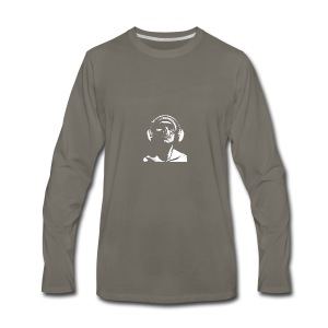 Front Skull Headphones - Men's Premium Long Sleeve T-Shirt