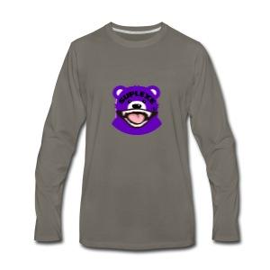 PURPLE {BLUR} BE@R x BADGER TEE - Men's Premium Long Sleeve T-Shirt
