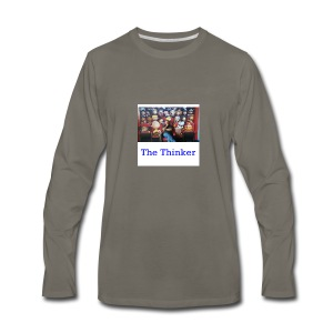 the thinker - Men's Premium Long Sleeve T-Shirt