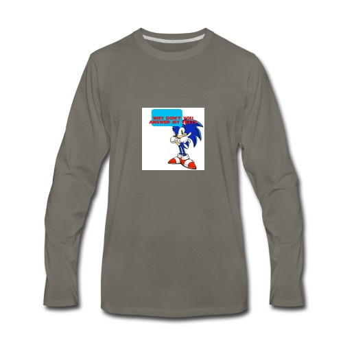 Why Don't you answer my texts - Men's Premium Long Sleeve T-Shirt