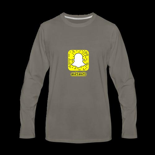 Alden's Snapchat - Men's Premium Long Sleeve T-Shirt