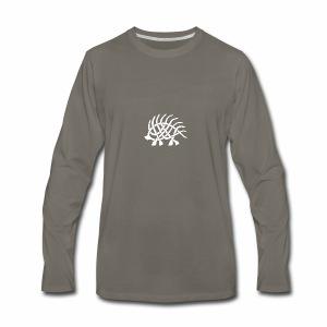 Boar Knot - White - Men's Premium Long Sleeve T-Shirt