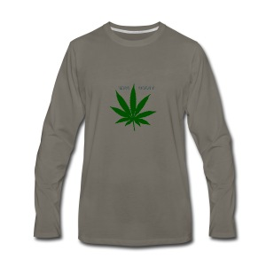 Bass Boost 420 Weed Leaf - Men's Premium Long Sleeve T-Shirt