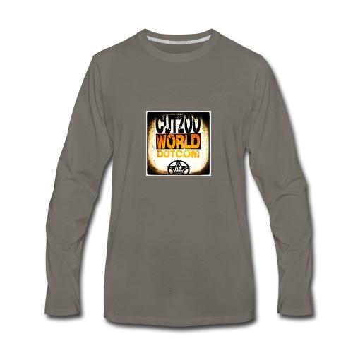 CutZooWorld logo - Men's Premium Long Sleeve T-Shirt
