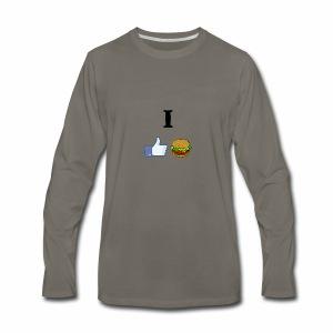 I LIKE CHEESEBURGERS - Men's Premium Long Sleeve T-Shirt
