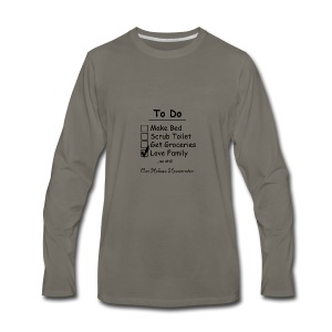 To Do List - One Helluva Homemaker - Men's Premium Long Sleeve T-Shirt