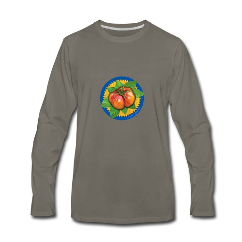 Heirloom Tomato Art, by Urban Gardens - Men's Premium Long Sleeve T-Shirt
