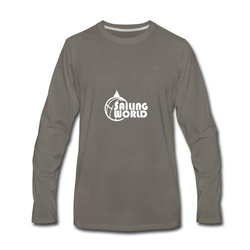 SAILING WORLD white - TheSailing Family - Men's Premium Long Sleeve T-Shirt