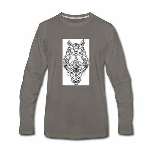owls look - Men's Premium Long Sleeve T-Shirt