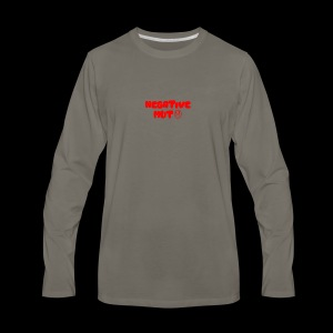 Negative Mut logo - Men's Premium Long Sleeve T-Shirt