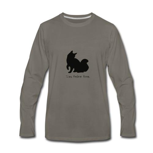 Im feline fine - Men's Premium Long Sleeve T-Shirt