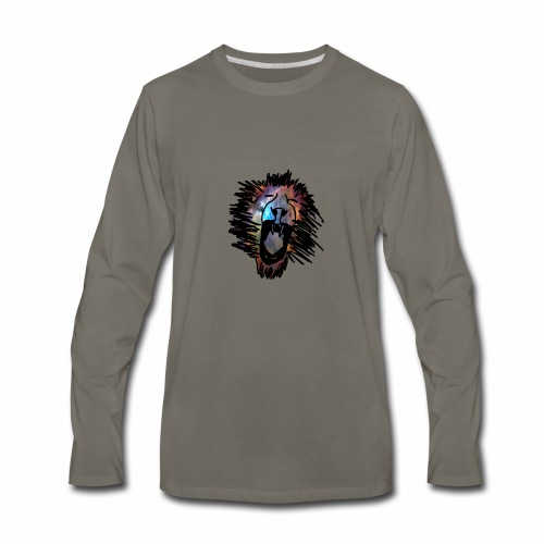 Galaxy Lion - Men's Premium Long Sleeve T-Shirt