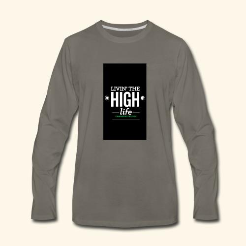livin the high life - Men's Premium Long Sleeve T-Shirt