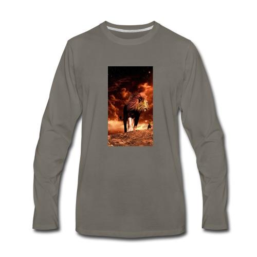 Lion 8777b6f7 3f7c 3f0f b84f 7dd7d3e9c75c - Men's Premium Long Sleeve T-Shirt