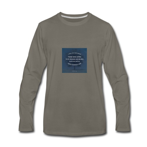 John 5:24 - Men's Premium Long Sleeve T-Shirt