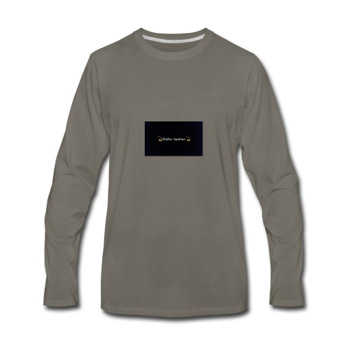 black and gold t shirt - Men's Premium Long Sleeve T-Shirt
