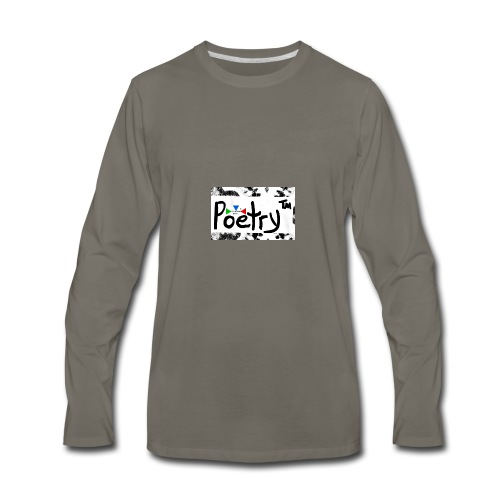 Getto Read Poetry - Men's Premium Long Sleeve T-Shirt