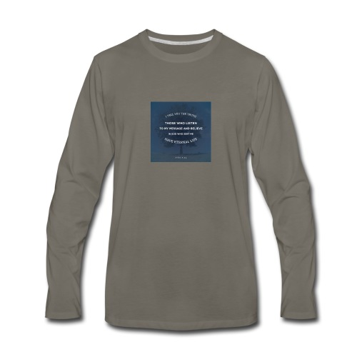 John 5:24 - Men's Premium Long Sleeve T-Shirt