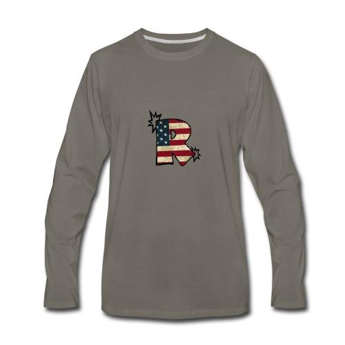 SuppzReviews R Logo - Men's Premium Long Sleeve T-Shirt