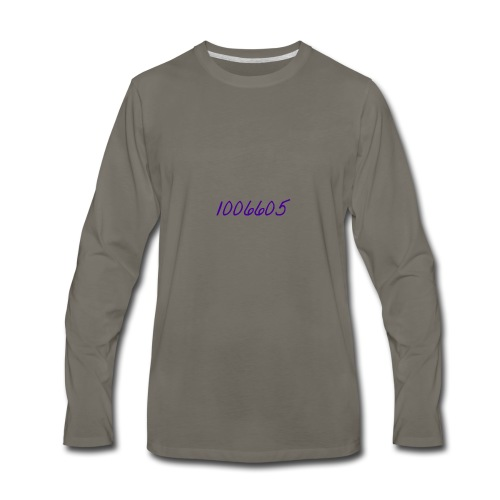 Logo Writing - Men's Premium Long Sleeve T-Shirt