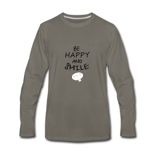 be happy and smile unique coffee mug - Men's Premium Long Sleeve T-Shirt