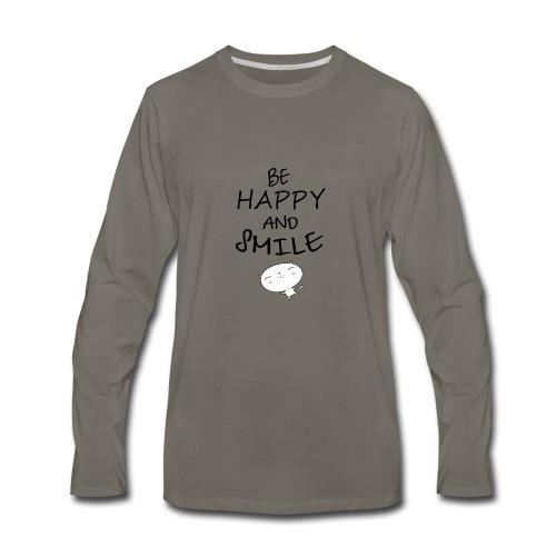 be happy and smile unique coffee mug - Men's Premium Long Sleeve T-Shirt