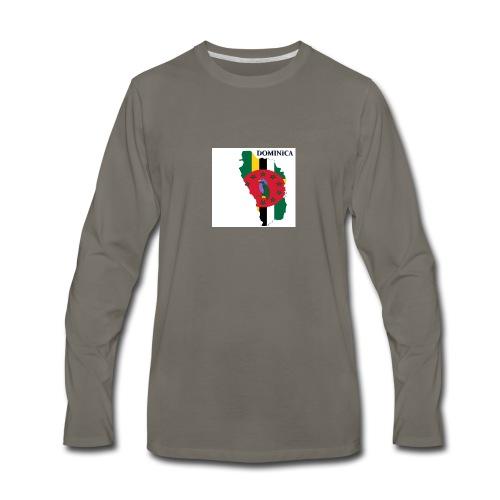 DOMINICA Flag - Men's Premium Long Sleeve T-Shirt