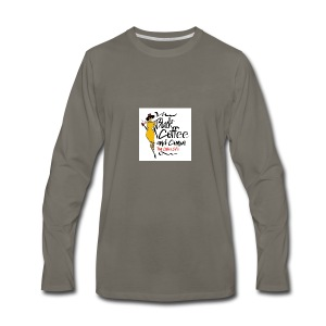 BLACK COFFEE AND COFFEE LOGO - Men's Premium Long Sleeve T-Shirt