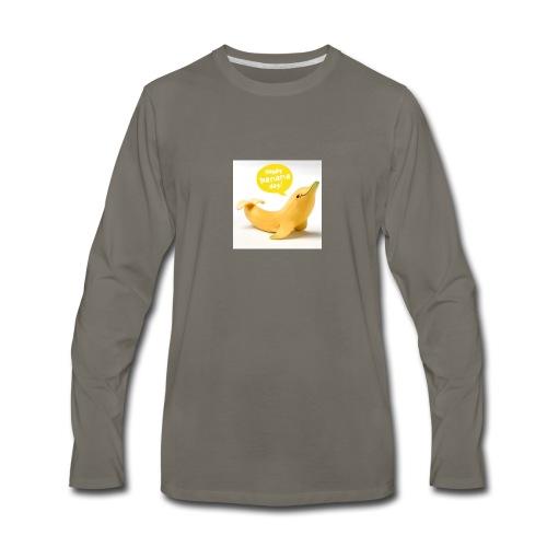 Banana dolphin - Men's Premium Long Sleeve T-Shirt