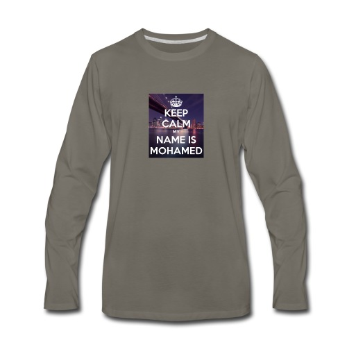 keep calm my name is mohamed 4 - Men's Premium Long Sleeve T-Shirt
