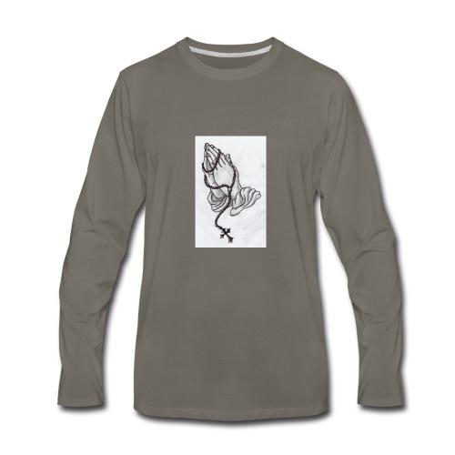 praying hands - Men's Premium Long Sleeve T-Shirt